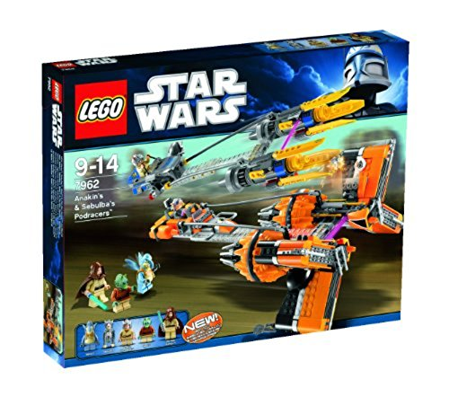 Lego Star Wars Anakins & Sebulbas Podracers 7962 - 2011 Release (Star Wars Lego Set 7171)