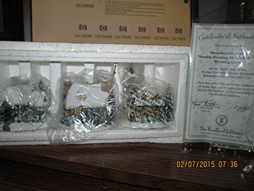 (Thomas Kinkade Cottage Ornaments Winter Memories Illuminated Ornament Collection 9th)