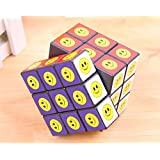 Edealing 1PCS Smile Face 7x7x7 Magic Cube Speed Twist Rubik Twist Puzzle Intelligence Game Kids Toy