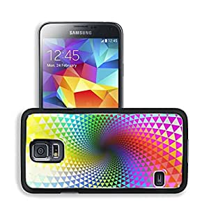 Abstract Multicolor Spiral Rainbows Art Samsung Galaxy S5 SM-G900 Snap Cover Premium Aluminium Design Back Plate Case Open Ports Customized Made to Order Support Ready 5 8/16 Inch (140mm) X 3 2/16 Inch (80mm) X 11/16 Inch (17mm) MSD S5 Professional Cases