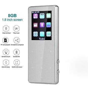 LQQZZZ Reproductor de MP3, Pantalla táctil Bluetooth de 1.8 ...