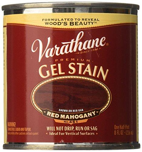 Varathane 224500 Premium Gel Stain, Half Pint, Red Mahogany ()