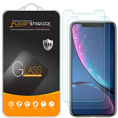 [2-Pack] Supershieldz for Apple iPhone XR (6.1) Tempered Glass Screen Protector, Anti-Scratch, Bubble Free, Lifetime Replacement Warranty