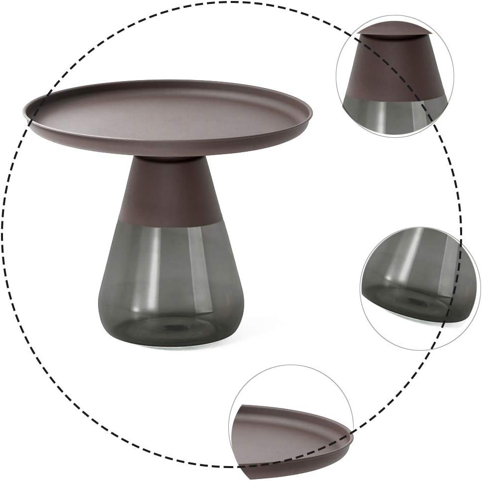 Koop Goedkoop ZRRtables Retro vaas vorm salontafel creatief glas koffietafel woonkamer sofa tafel moderne designer bijzettafel opbergbaar koffie accenttafel C Yp3420d