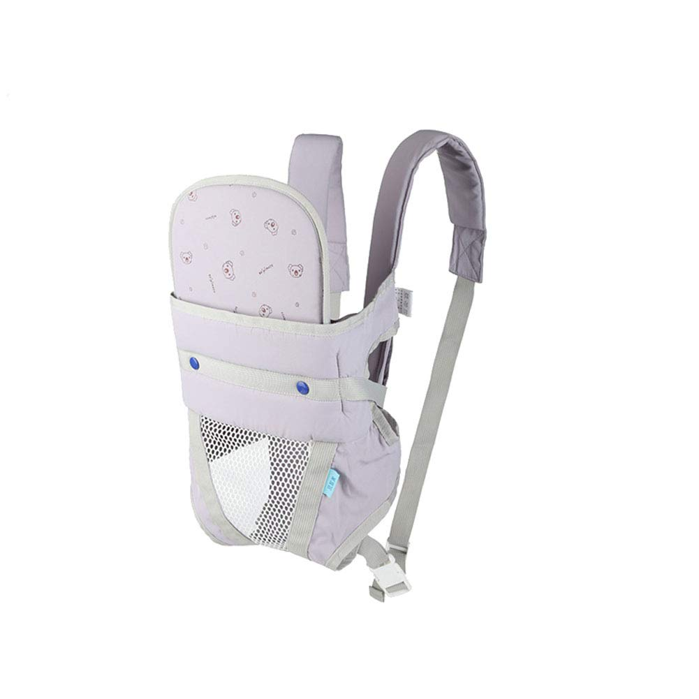 Breathable Baby Sling Front Hug Newborn Baby Back Strap Multi-Function Four Seasons Universal Gray-Grey