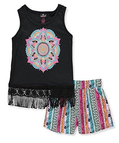 Dollhouse Big Girls 2 Piece Outfit   Black Multi  14 16