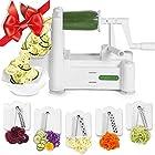 Spiralizer 5-Blade Vegetable Slicer, Strongest-and-Heaviest Duty, Best Veggie Pasta & Spaghetti Maker