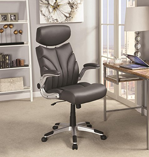 Coaster Home Furnishings Adjustable Height Office Chair Grey and Silver