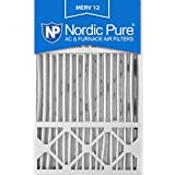 Nordic Pure 16x25x5 Honeywell Replacement MERV 12 Furnace Air Filter, Quantity 4