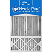 Nordic Pure 16x25x4/16x25x5 (15 3/4 x 24 3/4 x 4 3/8) Honeywell FC100A1029 Replacement Pleated AC Furnace Air Filters MERV 12, Box of 1