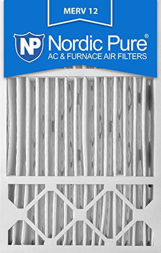 Nordic Pure 16x25x5 Honeywell Replacement AC Furnace Air Filters MERV 12, Box of 2