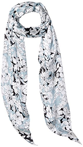LAUNDRY BY SHELLI SEGAL Women's Sketched Floral Oblong Scarf, periwinkle, One Size