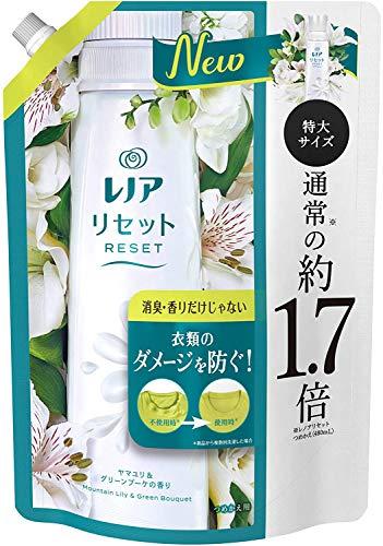 레노아리셋 백합&그린 부케의 향기 교환용 리필특대 사이즈 795mL×6 개세트