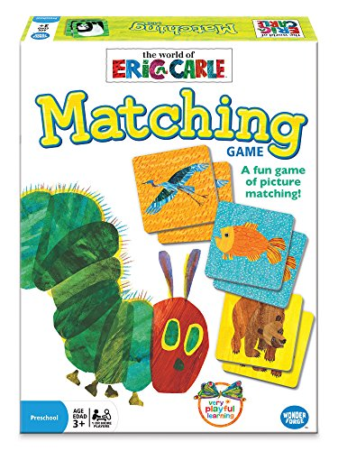 Wonder Forge Eric Carle Matching Game  for Boys & Girls Age 3 and Up - A Fun & Fast Memory Game You Can Play Over & Over ()