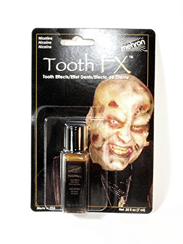 Hollywood Actress Fancy Dress Costumes (Mehron Tooth Fx Brown Nicotine Tooth Special Effects Makeup. 0.25 Fluid Ounces.)