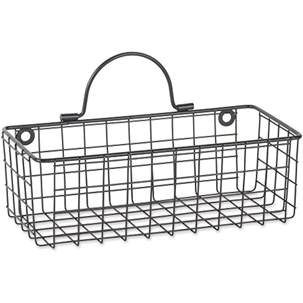 farmhouse vintage hanging wall mounted wire metal basket for kitchen  office  of 72724016582