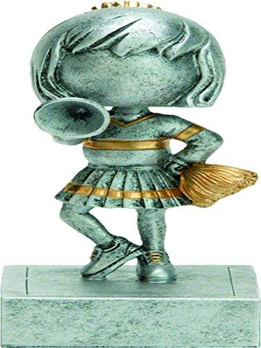 Cheerleading Bobblehead Resin Trophy Award