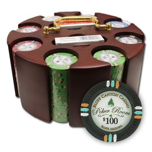 Brybelly Holdings PCS-3301 200Ct Claysmith Gaming Bluff Canyon Chip Set in Carousel by Brybelly
