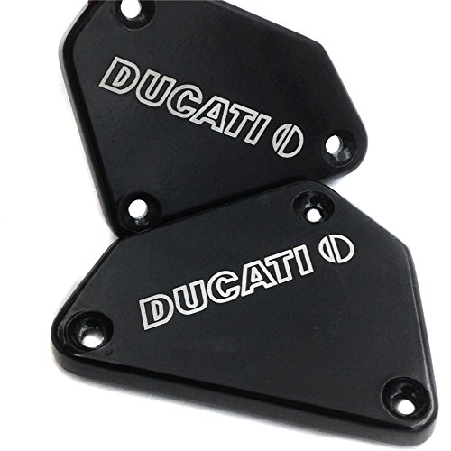 SMT-Motorcycle Black Brake Fluid Reservoir Cap Cover DUCATI Engraved For Ducati 749 749S 749R 749F 999 999S 999R 999F All Years