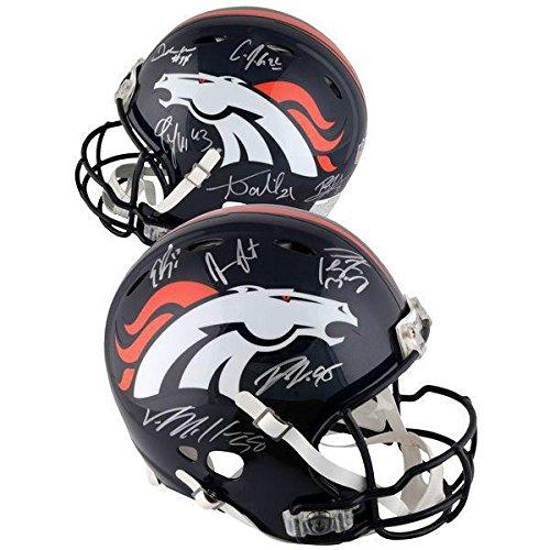 Denver Broncos Super Bowl 50 Team Autographed Pro Helmet signed Manning +12 - PSA/DNA Certified - Autographed NFL Helmets (Helmet Denver Pro Broncos Autographed)