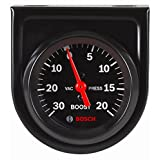"Bosch SP0F000050 Style Line 2"" Mechanical Vacuum/Boost Gauge (Black Dial Face, Black Bezel)"