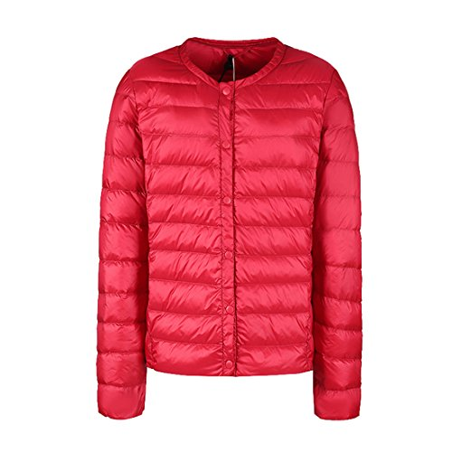 Respeedime Autumn and Winter Coat Short Paragraph Lightweight Down Jacket Liner Crewneck Slim Coat