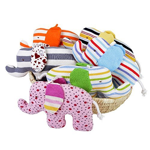 Nile Organic Bear - Under the Nile Scrappy Elephants - Assorted Patterns, Sold Individually