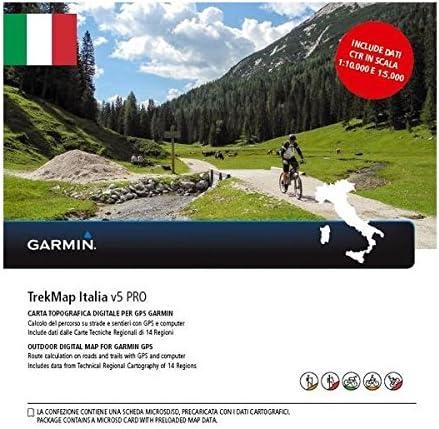 Garmin - Tarjeta de Memoria MicroSD y SD para TrekMap Italy v5 Pro