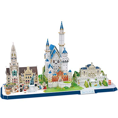 CubicFun 3D Puzzle for Adults Kids Bavaria Cityline Building Model Kits Collection Toys Gift for Men and Women, Neuschwa