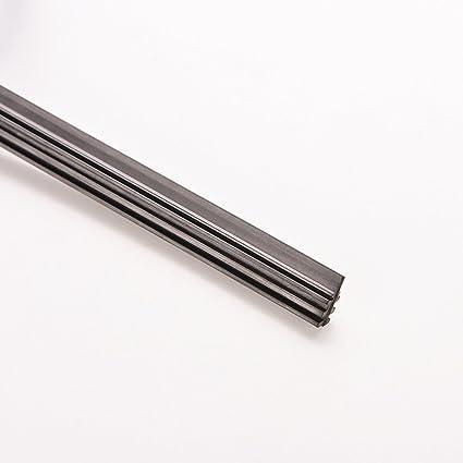 Pixnor - Tiras de Goma para limpiaparabrisas de Coche, 60 cm / 66 cm, Color Negro: Amazon.es: Electrónica
