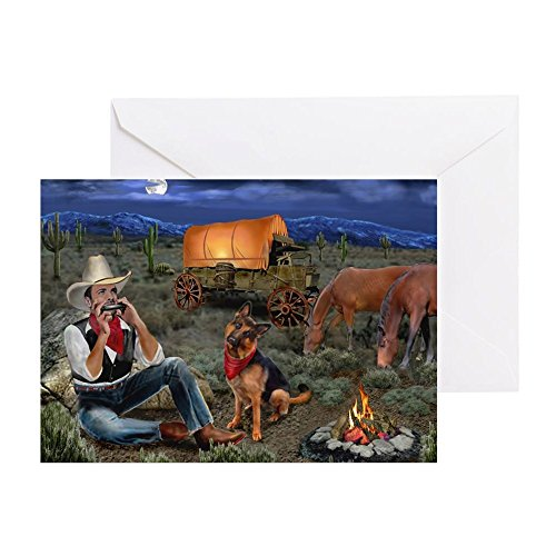 CafePress Lonesome Cowboy Greeting Cards Greeting Card, Note Card, Birthday Card, Blank Inside Matte