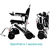 Open/Fold in 1 second only. Foldawheel PW-999UL (Free travel case + 2 yrs global warranty) The lightest & most compact power chair weighs 46 lbs including Li-ion battery. Supreme quality.