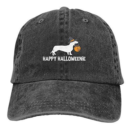 SISA Dachshund Halloween 2017 Unisex Denim Hats Baseball Hop Adult Adjustable Hat