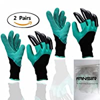 2 Pair Garden Gloves with Fingertips Claws Quick- Great for Digging Weeding Seeding poking -Safe for Rose Pruning -Best Gardening Tool -Best Gift for Gardeners (Single Claw) (2 Pairs)