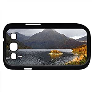 autum (Lakes Series) Watercolor style - Case Cover For Samsung Galaxy S3 i9300 (Black)