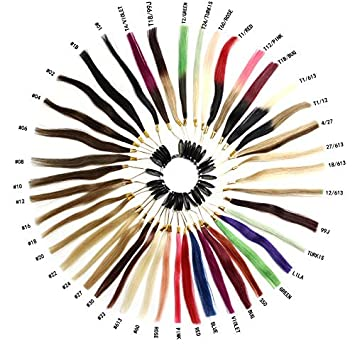 Haibis Remy Human Hair Extensions Color Ring Color Chart Swatches