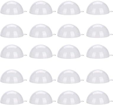 8CM Boule en Plastique Transparent Bulles en Plastique 20pcs Conteneur Remplissable Mariage D/écoration de No/ël Clair No/ël Ornements