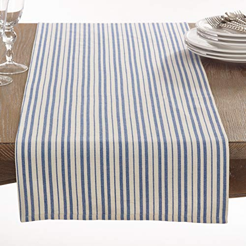 SARO LIFESTYLE Dauphine Collection Striped Design Table Runner