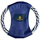 KINGS The State Of PENNSYLVANIA Colorful Cotton Pet Frisbee Canvas