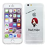 iPhone 5/5s Marvel Comic Silicone Phone Case / Gel Cover for Apple iPhone 5s 5 SE / Screen Protector & Cloth / iCHOOSE / Black Widow