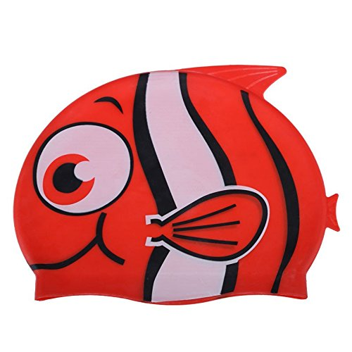 Children Cartoon Swimming Cap Silicon Diving Waterproof Cartoon Swimming Cap