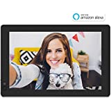 """Nixplay W10B Seed 10.1"""" Widescreen Wi-Fi Cloud Digital Photo Frame with IPS Display, iPhone & Android App, iOS Video Playback, Free 10GB Online Storage, Alexa Integration and Hu-Motion Sensor, Black"""