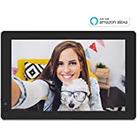 Nixplay W10B Seed 10.1' Widescreen Wi-Fi Cloud Digital Photo Frame with IPS Display, iPhone & Android App, iOS Video Playback, Free 10GB Online Storage, Alexa Integration and Hu-Motion Sensor, Black
