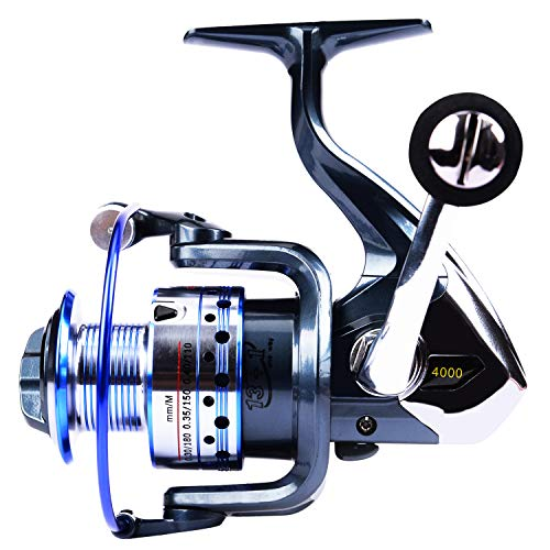 GOLD SHARKING Ultra Smooth Powerful Spinning Fishing Reel for Saltwater Freshwater 14 Corrosion Resistant Bearings Left Right Interchangeable Lightweight (3000, GTS)