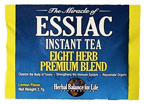 Essiac Instant Tea, Empty Packet Into Cup, Add Hot Water and Enjoy, 2.7 g Packets, 60 Packets per bag, No Special Storage, Totally Portable Great for Travel, 30 Day Supply by Herbal Balance for Life