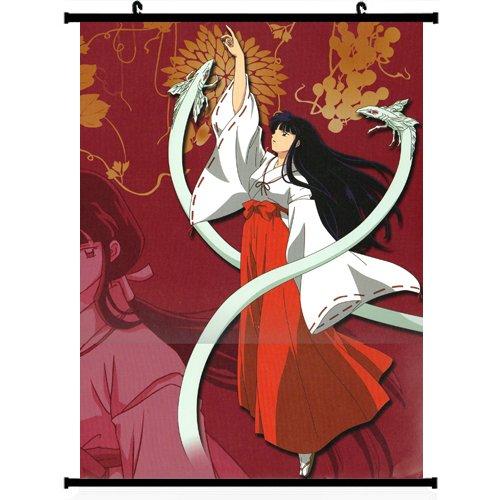 Inuyasha Anime Wall Scroll Poster Kikyo 16*24 Support Customized