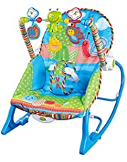 Leoly Baby Ocean Theme Happy Chair Infant to Toddler Rocker Breathable Adjustable Bearing 13kg Baby Rocker Kindness