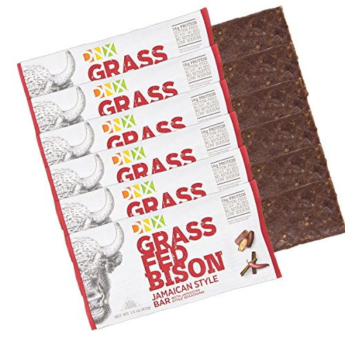 Bison Meat (DNX Bar Grass-Fed Bison Paleo Protein Bar with Jamaican Spices Whole30 Approved. Epic Taste with Organic Fruits and Veggies. Buffalo Meat Bar with No Preservatives (6 Bars))