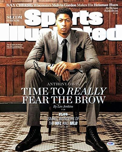 (Anthony Davis Autographed Signed Memorabilia Sports Illustrated 16X20 Photograph Pelicans PSA/DNA Ab55583)