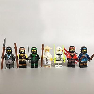 7pcs/lot NEW Ninjagoes Movie Wu Kai Jay Cole Zane Nya Lloyd Destiny's Bounty Compatible legoes 70618 block Kids Mini toy Fig